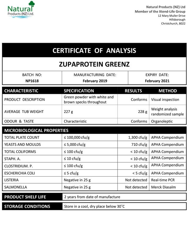 COA-Zupaprotein-Greenz