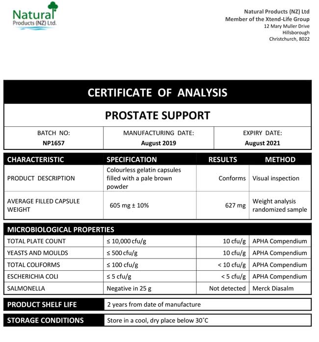 CoA-Prostate-Support