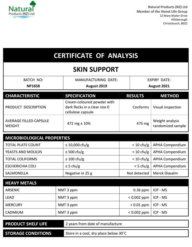 CoA-Skin-Support